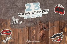 Funny Face Stickers example image 1 Face Stickers, Craft Stickers, Funny Stickers, Back Art, Scene Creator, Line Design, Journal Cards, Funny Faces, Design Bundles