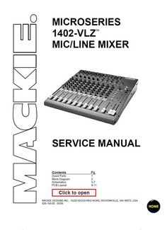 Allen & Heath GL-2400 Console , Original Service Manual