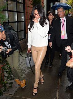 November 10, 2015: Selena Gomez arrives at the Victoria's Secret Fashion Show in New York City.
