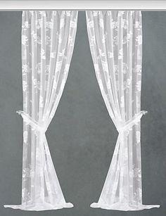 Seitenschal, Vhg, »Barbara«, mit Kräuselband, inkl. Raffhalter (2 Stück) in weiß im Online Shop von Baur Versand