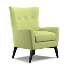 angelo home barton green bamboo twill armless wingback chair the