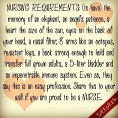 Nursing Requirements- there is no substitute for a real nurse Nurse Love, Rn Nurse, Nurse Stuff, Nurse Jackie, Hello Nurse, Online Nursing Schools, Nursing Jobs, Nursing Care, School Nursing