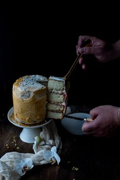 Golden Chamomile and Salted Honey Milk Cake with a Wild Fennel Buttercream – SUMAC & DUTCH