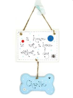 Handmade Personalised Wooden Sign / Plaque Puppy by 2good2beWood