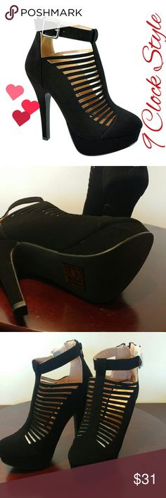 High Heel From Bella Marie Style Novel color Black Nubuck considerable offers #NO LOW BALLS ##: thank you 😍😍😍 All shoes in my closet are New comes with original box no trades sorry 😉 Bella Marie Shoes Heels
