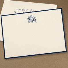Monogrammed Note Cards from The Stationery Studio......beautiful stationery is addictive.