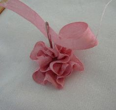 Silk Ribbon Embroidery: Folded Rose / Gathered Combination