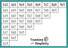 Operation Math Facts:  ways to help students learn multiplication facts!