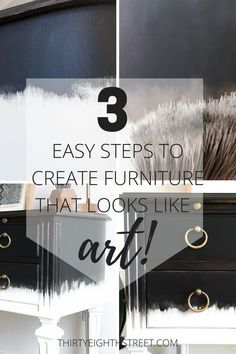 AMAZING Dry Brush Painting Technique That Makes Furniture Look Like Art! Dry brushing tutorial and video demonstration. | Thirty Eighth Street