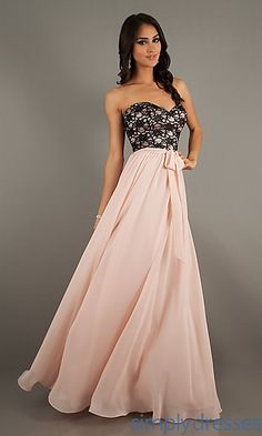 Floor Length Strapless Sweetheart Gown at SimplyDresses.com