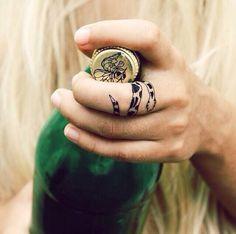 Snake Finger Tattoo