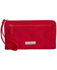Vera Bradley Front Zip Wristlet ( 44) ❤ liked on Polyvore featuring bags,  handbags 504a6cfea4