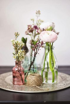 Beautiful Spring flowers with a rustic twist.