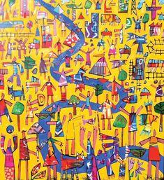 Figurative painting art -Bruce Earles - Fun Flow