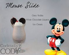Micky Mouse adult beverage cocktail - 30 Disney Themed Party Cocktails For Grown Ups