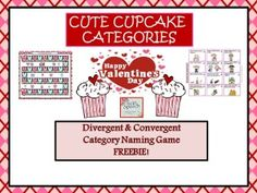 Twin Speech: Cute Cupcake Categories! Pinned by SOS Inc. Resources. Follow all our boards at pinterest.com/sostherapy/ for therapy resources.