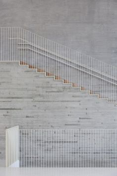 Colour & textural detail has been used to create this stark and stunning staircase - Saunalahti School / VERSTAS Architects