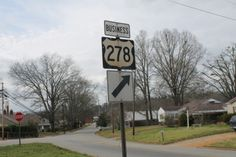 An old sign for a non-existent US 278 business.