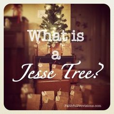 I have been wondering this....What is a Jesse Tree? I found my answer, it is neat too teaches children the lineage of Jesus and making ornaments for each story
