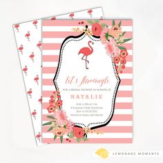 Hey, I found this really awesome Etsy listing at https://www.etsy.com/listing/205401669/flamingo-party-invitation-bridal-shower