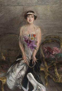 1913.Madame Michelham.Giovanni Boldini (1842-1931)