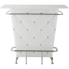 Vegas Storage Bar Table (€180) ❤ liked on Polyvore featuring home, furniture, tables, dining tables, chrome shelves, chrome kitchen table, storage table, chrome shelving and storage shelves