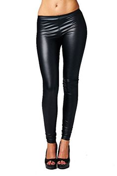Cheris Women's Fitted Soft Stretchy Elastic Waist Faux Leather Leggings Pants $14.99 http://www.amazon.com/dp/B0175D9P82/ref=cm_sw_r_pi_dp_yoqrwb0TTWWNZ