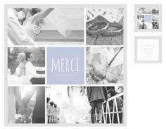 carte de remerciements trs douce ajoutez lui vos photos en noir blanc pour - Modele Carte Remerciement Mariage