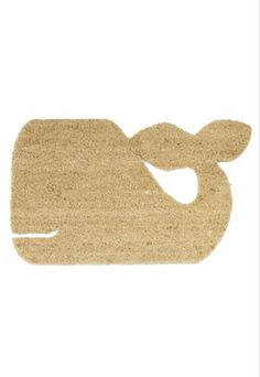 Buy a cheap door mat and use exacto knife for the shape! #DIY #home #decor #cute #nautical #whale #mat