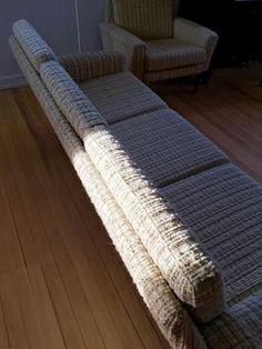 1.400 kr. - Sofa, stof, 3 pers., Super Retro-sofa og matchende lænestol. Perfekt stand. Ingen pletter, huller el. lign. i betræk. Man sidder godt og blødt.   Sofa Bredde