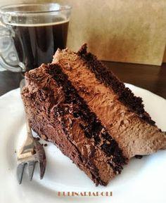 Kulinaria Poli: Tort z musem czekoladowym Sweets Cake, Cupcake Cakes, Cupcakes, Tiramisu, Cheesecake, Cookies, Baking, Ethnic Recipes, Food