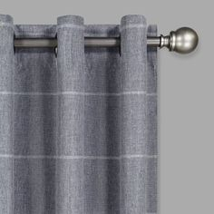Invite industrial modern style to your living space with Eclipse's Peconic Grommet Window Curtain Panel. Woven with a minimalist grid design, this polyester window accessory softens outside sunlight and is machine washable for easy care. Blackout Windows, Blackout Curtains, Drapes Curtains, Light Blocking Curtains, Window Accessories, Thing 1, Window Styles, Grid Design, Room Darkening