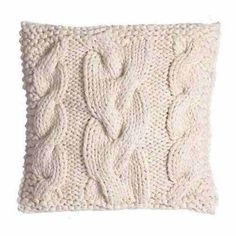 I have 5 sweater knitted pillows on the couches and they are the best to snuggle up on while watching TV. Sweater Pillow, Knit Pillow, Knitted Cushions, Arm Knitting, Knitting Blankets, Knitting Ideas, Knitting Projects, Knitting Patterns, Textiles
