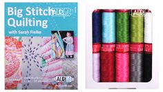 Sarah Fielke is an extraordinary quilter, teacher, fabric designer and author. She has long been an Aurifil ambassador and champion of our threads. Likewise, we've long been admirers of Sarah's work. It's like a match made in heaven and we couldn't be more thrilled to present #BigStitchQuilting . A stunning lineup of colors in #Aurifil 12wt thread, it's perfect for Sarah's signature hand stitched details and quilting…