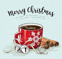 Merry Christmas- Have a good day Christmas Clipart, Noel Christmas, Christmas Printables, Christmas Pictures, Winter Christmas, Vintage Christmas, Christmas Crafts, Christmas Coffee, Illustration Noel
