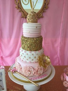 Princess Pink & Gold Birthday Party Ideas | Photo 1 of 9 | Catch My Party