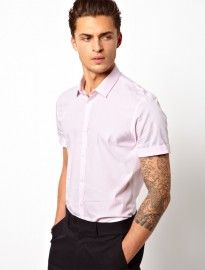 ASOS Smart Shirt With Button Down Collar - Burgundy | Asos Smart ...