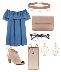 """""""Simple"""" by mayaebrown on Polyvore featuring Monki, MANGO, Franco Sarto, Forever 21 and Miss Selfridge"""