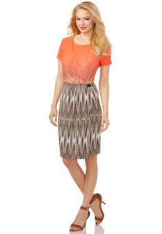 Cato Fashions Ikat Wrap Buckle Dress-Plus Plus Dresses, Jumpsuit Dress, Swing Dress, Ikat, Fit And Flare, How To Look Better, Your Style, Plus Size, Style Inspiration