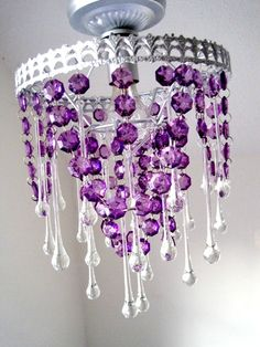 Purple Monster SemiFlush Chandelier. $175.00, via Etsy. This would look AMAZING in my vision for a 1/2 bathroom in lush purple.