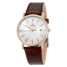 Bulova Men's 98H51 Strap Calendar Strap Watch just want to cryyy everytime i think abt my watch @Nancy Welch