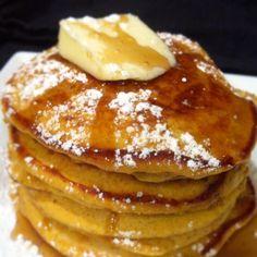 pumpkin pancakes using your favorite pancake mix. Just add pumpkin puree and seasoning.