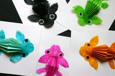 Japanese koi fish,,,,,3 D project.  No instructions in english --but there are step by step visuals!.
