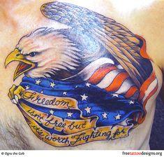 Freedom eagle tattoo @David Nilsson Nilsson Brinser