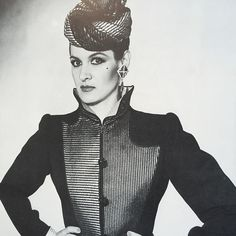 Paloma Picasso in YSL.  Photo by David Bailey, 1979.