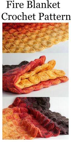 Fire Blanket Crochet Pattern - Crochet blanket patterns
