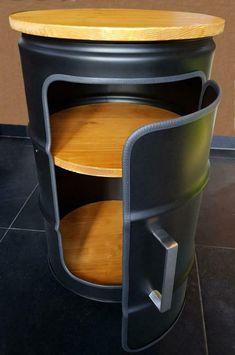 Chair Makeover, Furniture Makeover, Shoe Store Design, Barrel Projects, Metal Barrel, Barrel Furniture, Automotive Decor, Wooden Decor, Modern Landscaping