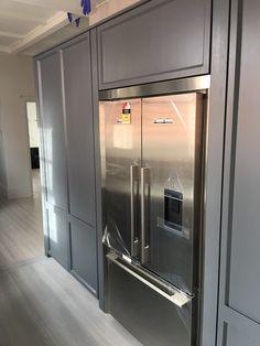 Kitchen Cottage Kitchens, Coastal Cottage, French Door Refrigerator, French Doors, Kitchen Appliances, Street, Home, Diy Kitchen Appliances, Home Appliances