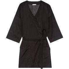 Skin Ryder striped Pima cotton robe (1,075 GTQ) ❤ liked on Polyvore  featuring intimates