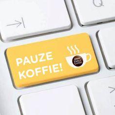 Pauze! Het is koffietijd.                                          It is time for a coffee break.                                      Dolce Gusto Coffee Koffie Kaffee Cafe
